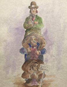 The Haunted Mansion: Quicksand Men - Watercolor