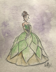 Frog Princess: Tiana - Watercolor