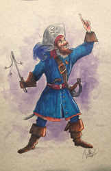 Pirate - Watercolor