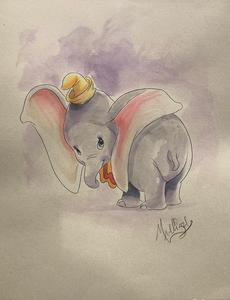 Dumbo: Posing - Watercolor