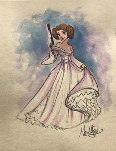 Star Wars: Princess Leia - Watercolor