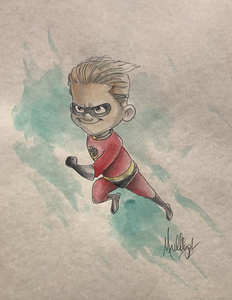Incredibles: Dash - Watercolor