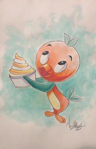Disney: Orange Bird - Watercolor1
