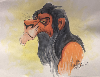 Lion King: Scar - Watercolor