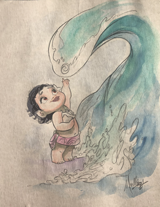 Moana: Baby - Watercolor
