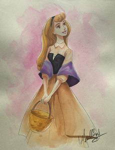 Sleeping Beauty: Princess Aurora - Watercolor