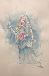 Candle Lady - Watercolor
