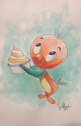 Disney: Orange Bird - Watercolor1