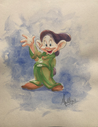 Snow White: Dopey - Watercolor