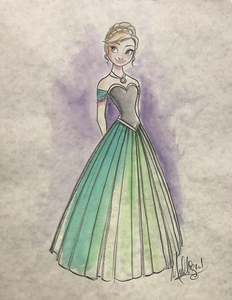 Frozen: Anna - Watercolor