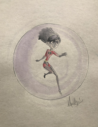 Incredibles: Violet - Watercolor1