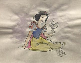 Snow White: Singing - Watercolor