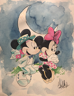 Commission Sample: Mickey & Mini Mouse